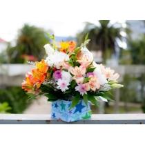 caixa flores do campo