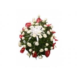 coroa c/flores nobres A partir de:450,00