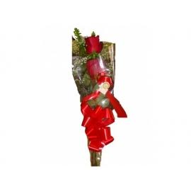 buquê c/ 2 botões de rosas vermelhos