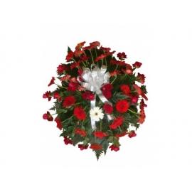 coroa c/ rosas e gerberas A partir de:300,00