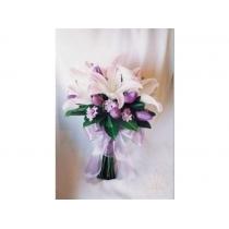 buquê de noiva c/ lírios e tulipas