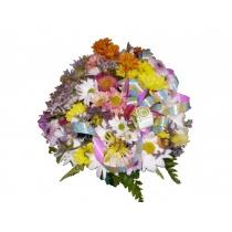 cachepô c/ flores do campo