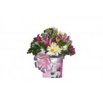 caixa c/ flores do campo e lírios