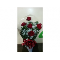 buquê c/ 5 rosas colombianas
