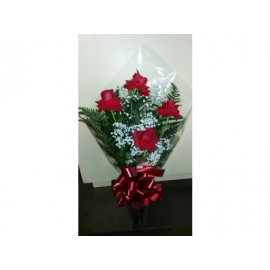 buquê c/ 4 rosas colombianas